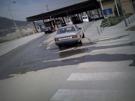 Kosovo/Macedonia border crossing, 2009.