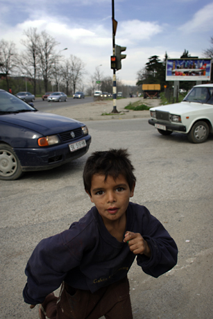 Roma Boy, Skopje, Macedonia, 2009.