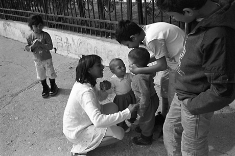 Roma children, Skopje, Macedonia, 2009.