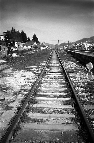 Railroad tracks, Kaçanik, Kosovo, 2009.